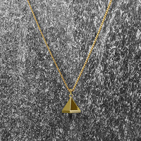Men's Novem 24k Gold Pyramid Chain