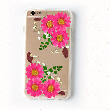 Dried Pressed Flower iPhone 6 Case / Clear Natural Floral Case for iPhone 6 plus, 5, 5s, 5c, 4, 4s, Samsung Galaxy s5, s4, s3