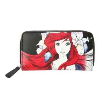Disney The Little Mermaid Ariel Sketch Zip Wallet