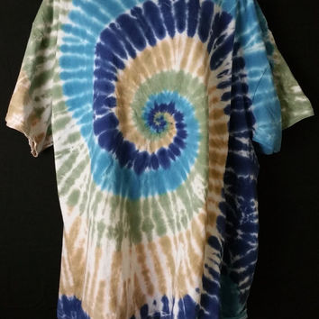 Hand Dyed Multi Spiral Tie Dye Shirt | Hanes -OR- Gildan | Youth -OR- Adult