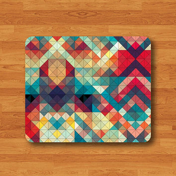 Abstract Geometric Smooth Mouse Pad Art Personalized Rubber Colorful MousePad High Resolution Printing Eco Friendly Teacher Gift Office Dec
