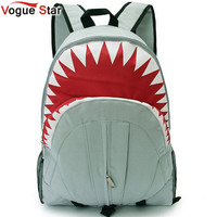 Vogue Star 2016 Free Shipping! Hot Sale Children Fashion Shark Backpack Cute Backpacks Boy's Travel Bags School Bag YA40-282