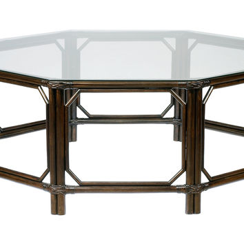"Eloise 43"" Octagon Coffee Table, Clove, Cocktail Table, Coffee Table Base"