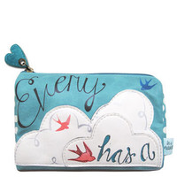 Every Cloud has a silver lining Make-up bag from the In a Nutshell range by Disaster Designs | Little Moose | Cute bags, gifts, toys, jewellery and accessories from independent designers and famous brands