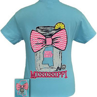 Girlie Girl Originals Mississippi Chevron Mason Jar Preppy State Bow Bright T Shirt