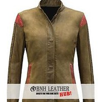 Rey Star Wars Women Brown Leather Jacket - Best Deal