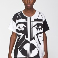 rsa0410spkf - KESH X American Apparel Face Le New Big Tee