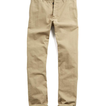 Todd Snyder Japanese Selvedge Chino Officer Pant in Khaki