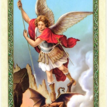 Saint Michael Archangel Prayer Card