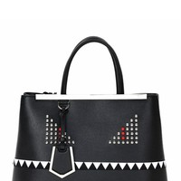 Fendi 'Medium 2Jour - Monster' Leather Tote | Nordstrom