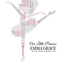 Personalized Ballerina Word Art (baby/toddler)