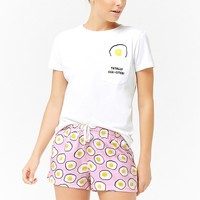 Egg Graphic Pajama Set