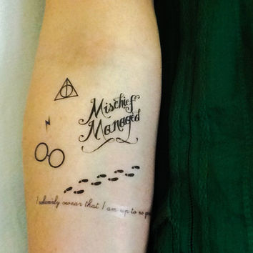 Marauders Map Pack Temporary Tattoos- SmashTat - Stocking Stuffer