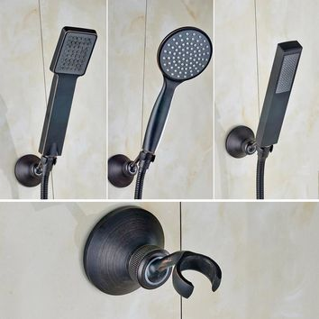 Free Shipping Oil Rubbed Bronze Handheld Shower Head Brass Bracket 150cm Shower Hose Faucet Accessory