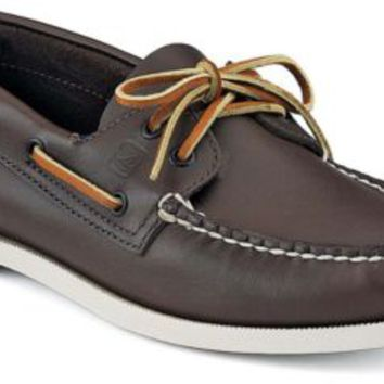 Sperry Top-Sider Authentic Original 2-Eye Boat Shoe ClassicBrownLeather, Size 9.5XW  Men's Shoes