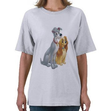 Cute Lady and the Tramp Disney Tee Shirts from Zazzle.com