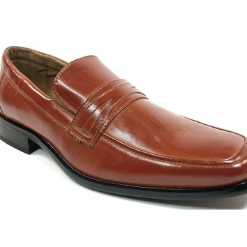 Mens Delli Aldo Penny Loafers Casual Dress Shoes 19269 Brown-200