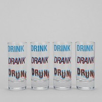 3D Shot Glass - Set Of 4