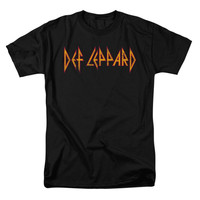 Def Leppard Men's  Horizontal Logo T-shirt Black Rockabilia