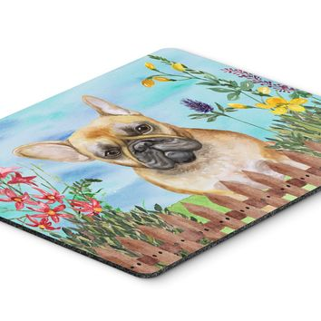 French Bulldog Spring Mouse Pad, Hot Pad or Trivet CK1250MP