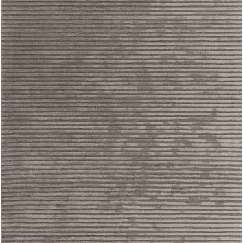 Taupe Hand-Tufted Solid Rug