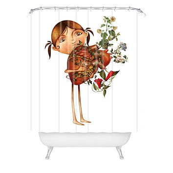 Jose Luis Guerrero Happy Place Shower Curtain