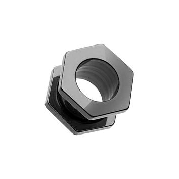 Hexa Bolt Screw-Fit Ear Gauge Tunnel Plug