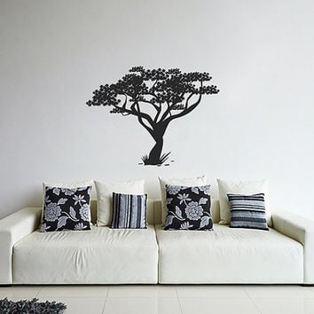 kik354 Wall Decal Sticker Room Decor Wall Art Mural African tree living room bedroom children