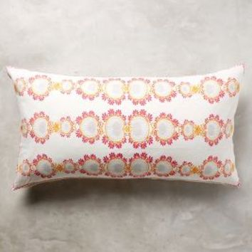 "John Robshaw Padez Pillow in Coral Size: 17"" X 32"" Pillows"