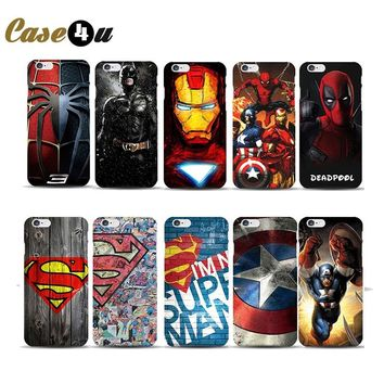 Marvel Avengers Deadpool Spiderman Superhero Phone Cases for iphone 7 8 6 6s Plus 5S SE coque capinhas Hard Case Batman Ironman
