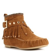 Fringed Moccasin Booties