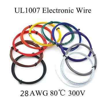 5 metres 28AWG UL1007 PVC insulated Wire Electric cable LED cable DIY Connect 10 color choose Free shipping