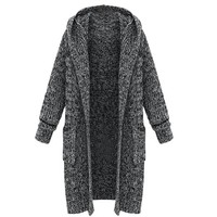 Partiss Womens Loose Plus Size Cardigan Sweater