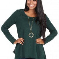 Needed Me Top in Hunter Green | Monday Dress Boutique