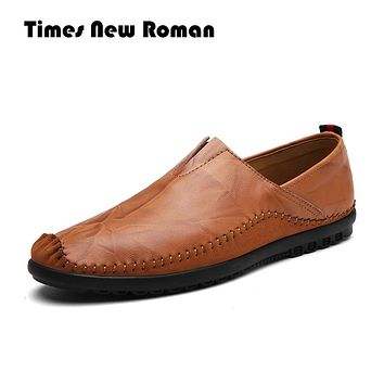 Genuine Leather Men shoes, High Quality Men Loafers, Men Moccasin, Slip On Men Leather Shoes