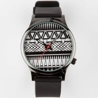 Geo Tribal Face Watch Black/White One Size For Men 25193512501