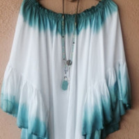 Ombre  Bat Sleeve Blouse B0015576