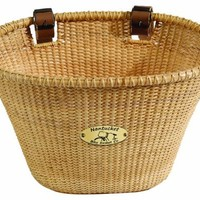 Nantucket Bike Basket Company Lightship Collection Oval Adult Bike Basket (Natural)