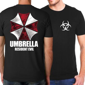 Back and Front Print Resident Evil Umbrella T-Shirts