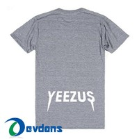 Yeezus Logo T Shirt Women And Men Size S To 3XL