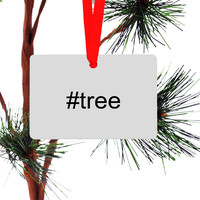 Twitter Hashtag Christmas Tree Ornament