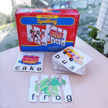 Matching Letter Spelling Match it spelling english words Learning Children Educational Toys puzzle toy board game for kids