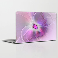 Abstract Flower With Pink And Purple Fractal Laptop & iPad Skin by Gabiw Art