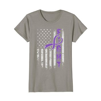Epilepsy Awareness Fighting American Flag T-Shirt