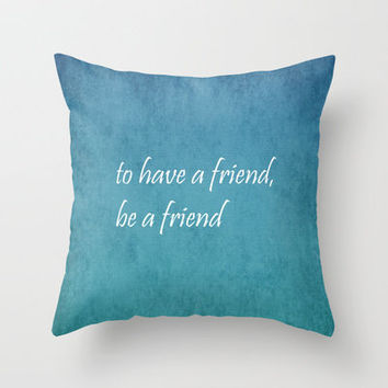 Friendship Throw Pillow by Lyle Hatch | Society6