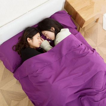 Portable adult travelers all sleeping bags Double bed fitted sheet cover beddings for Camping Home textile products