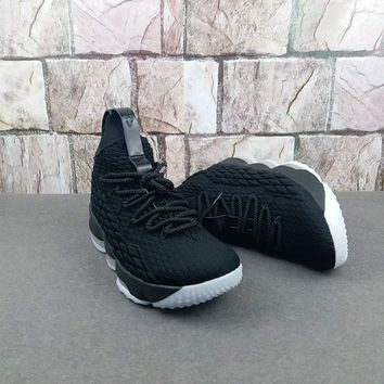 "Nike LeBron 15 - ""Triple Black"" Basketball Shoes"