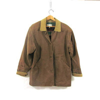 20% OFF SALE...vintage brown jacket // barn coat // field coat / women's size S