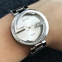 GUCCI Woman Men Fashion Watch Business Watches Wrist Watch Silver B-Fushida-8899