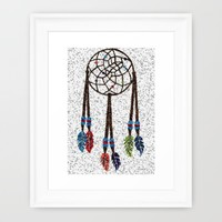 Dream Catcher Framed Art Print by Kathleen Sartoris